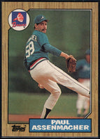 1987 Topps #132 Paul Assenmacher RC Rookie Braves