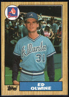 1987 Topps #159 Ed Olwine RC Rookie Braves