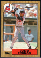 1987 Topps #160 Julio Franco Indians
