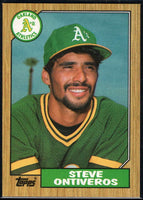 1987 Topps #161 Steve Ontiveros Athletics