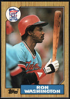 1987 Topps #169 Ron Washington Twins
