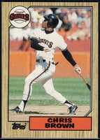 1987 Topps #180 Chris Brown Giants