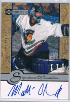 1999-00 UD Prospects Signatures of Tradition #MC Mathieu Chouinard Auto 04156