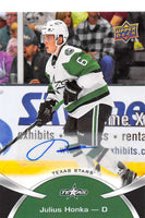 2015-16 Upper Deck AHL Autographs #34 Julius Honka MINT  Auto Texas Stars 07657
