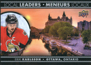 2016-17 Tim Hortons Local Leaders #LL-4 Erik Karlsson NM-MT Hockey NHL Senators