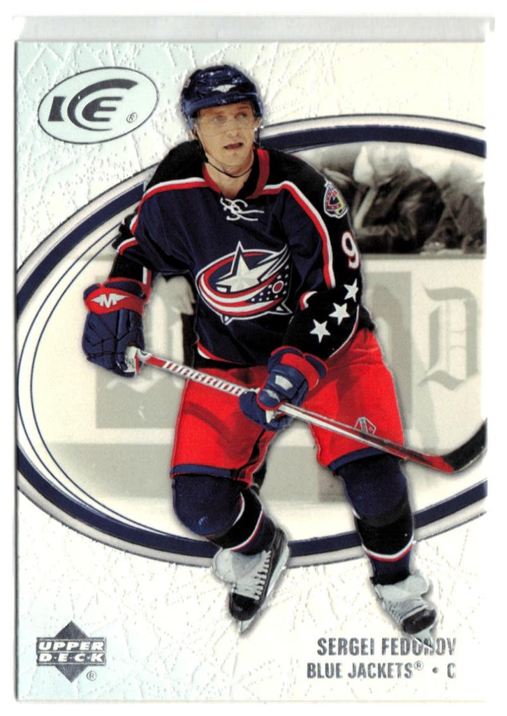 2005-06 Ice #27 Sergei Fedorov MINT Hockey NHL Blue Jackets