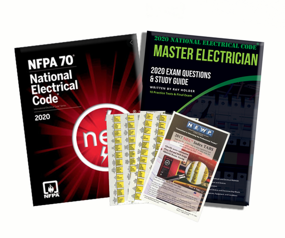 2020 Master Electrician Study Guide & National Electrical Code Combo with Tabs