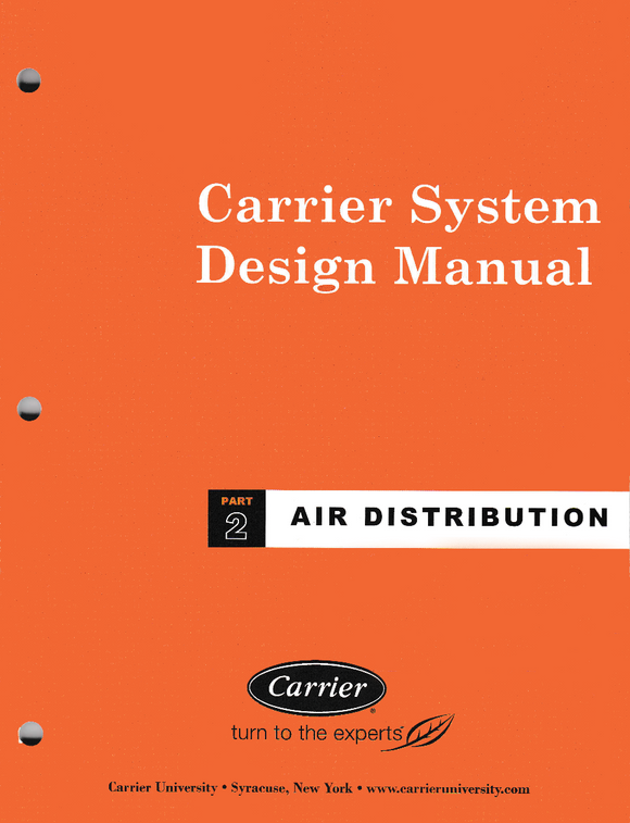 Carrier System Design Manual - Part 2 Air Distribution Book