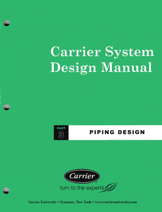 Carrier System Design Manual - Part 3 Piping Design