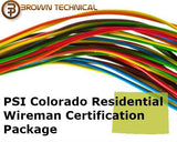 PSI Colorado Residential Wireman Certification Package