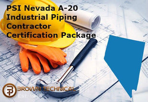 PSI Nevada A-20 Industrial Piping Contractor Certification Package