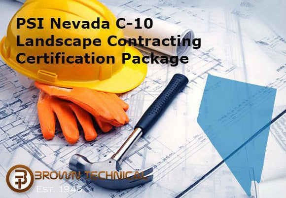 PSI Nevada C-10 Landscape Contracting Certification Package