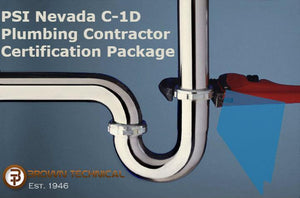 PSI Nevada C-1D Plumbing Contractor Certification Package