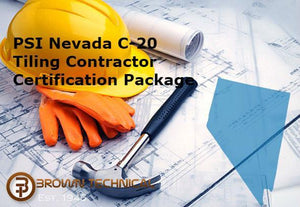 PSI Nevada C-20 Tiling Contractor Certification Package