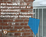 PSI Nevada C-21D Refrigeration and Air Conditioning Maintenance Contractor Certification Package