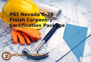 PSI Nevada C-3B Finish Carpentry Certification Package