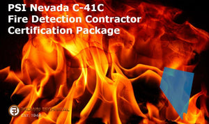 PSI Nevada C-41C Fire Detection Contractor Certification Package