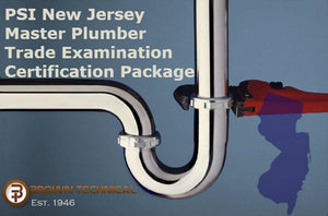 PSI New Jersey Master Plumber Trade Examination Certification Package