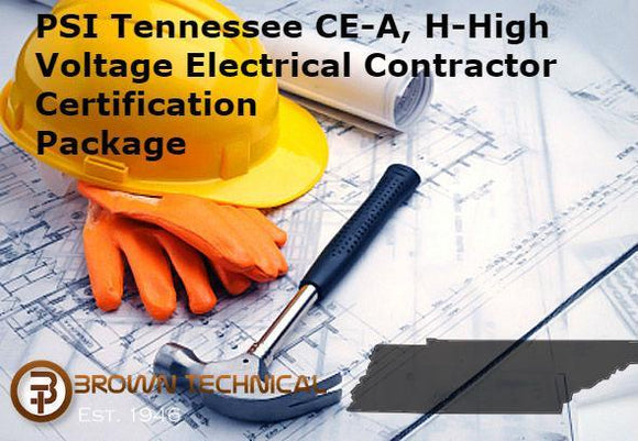 PSI Tennessee CE-A, H-High Voltage Electrical Contractor Certification Package