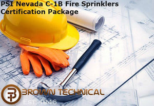 PSI Nevada C-1B Fire Sprinklers Certification Package