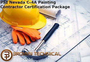 PSI Nevada C-4A Painting Contractor Certification Package