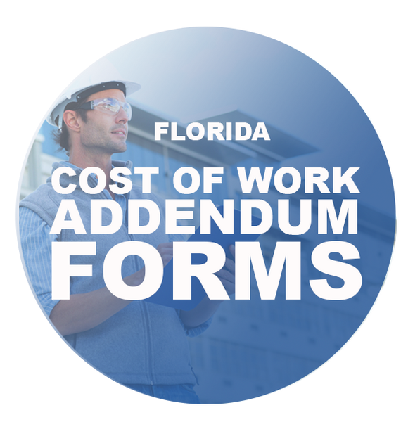 COST OF WORK ADDENDUM FORMS