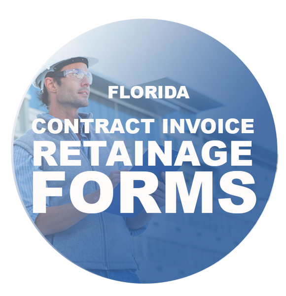 CONTRACT INVOICE- RETAINAGE FORMS
