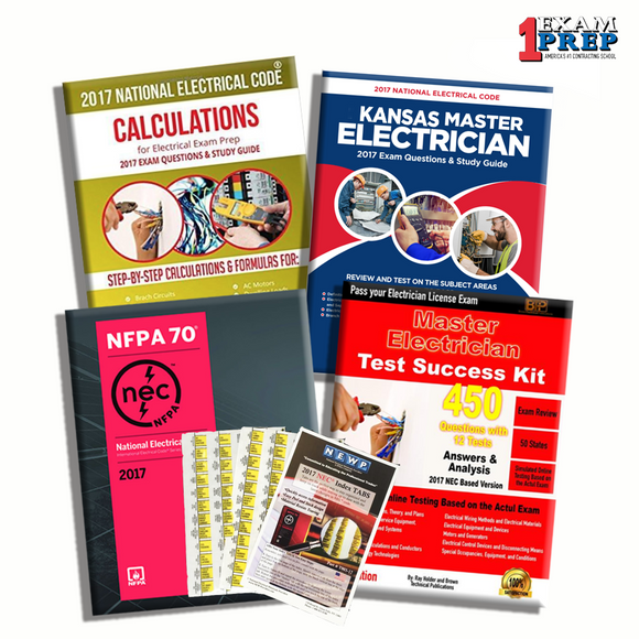 Kansas 2017 Master Electrician Exam Prep Package