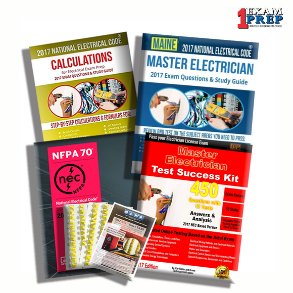 Maine 2017 Master Electrician Exam Prep Package