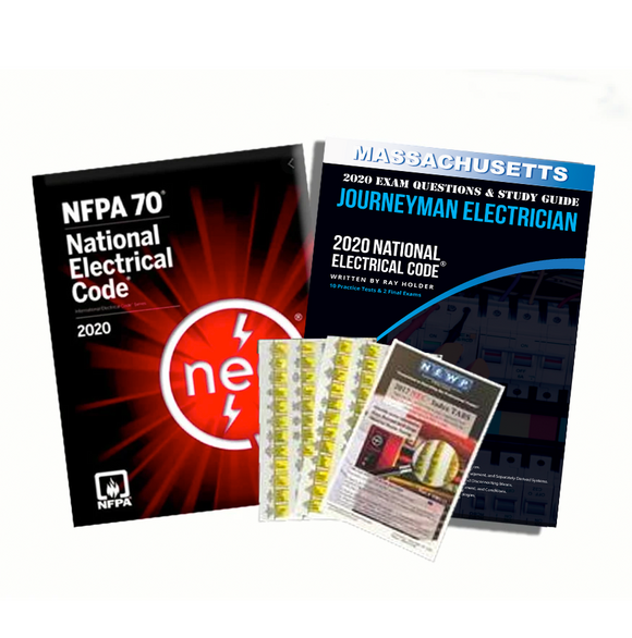 Massachusetts 2020 Journeyman Electrician Exam Prep Package