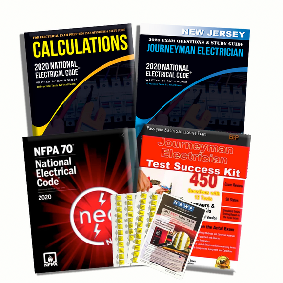 new jersey 2020 Complete Journeyman Electrician Exam Prep Package