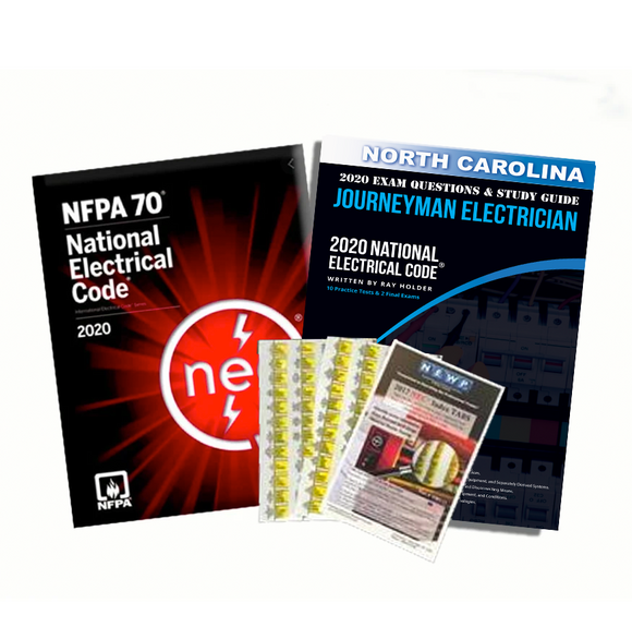 North Carolina 2020 Journeyman Electrician Exam Prep Package