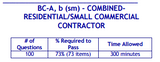 PSI Tennessee BC-A, b (sm)-Combined-Residential/Small Commercial Contractor Book Package