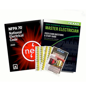Texas 2020 Master Electrician Study Guide & National Electrical Code Combo with Tabs