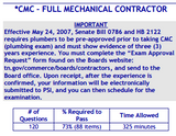 PSI Tennessee CMC-Full Mechanical Contractor Book Package