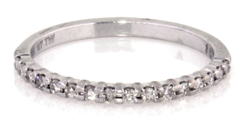 Estate 10k White Gold Diamond Band