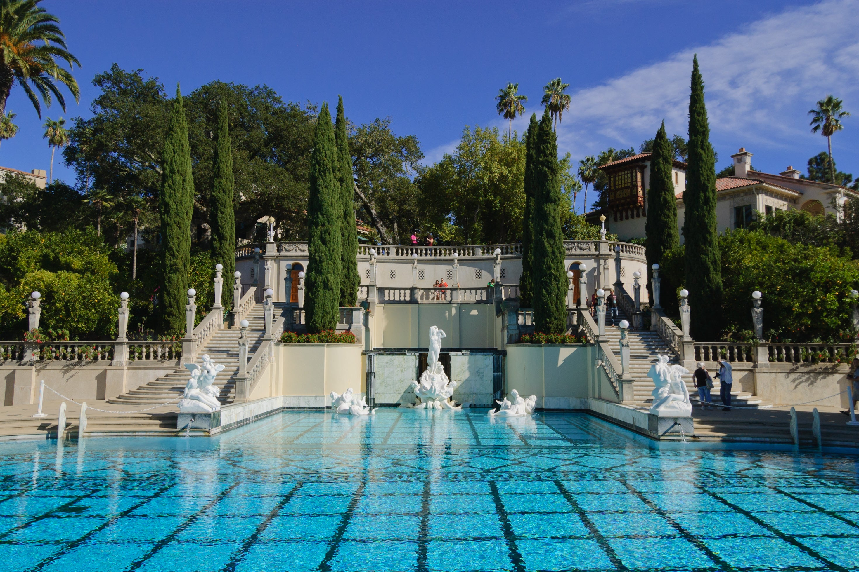 Neptune Pool at Hearst Castle <br>photographed by King of Hearts