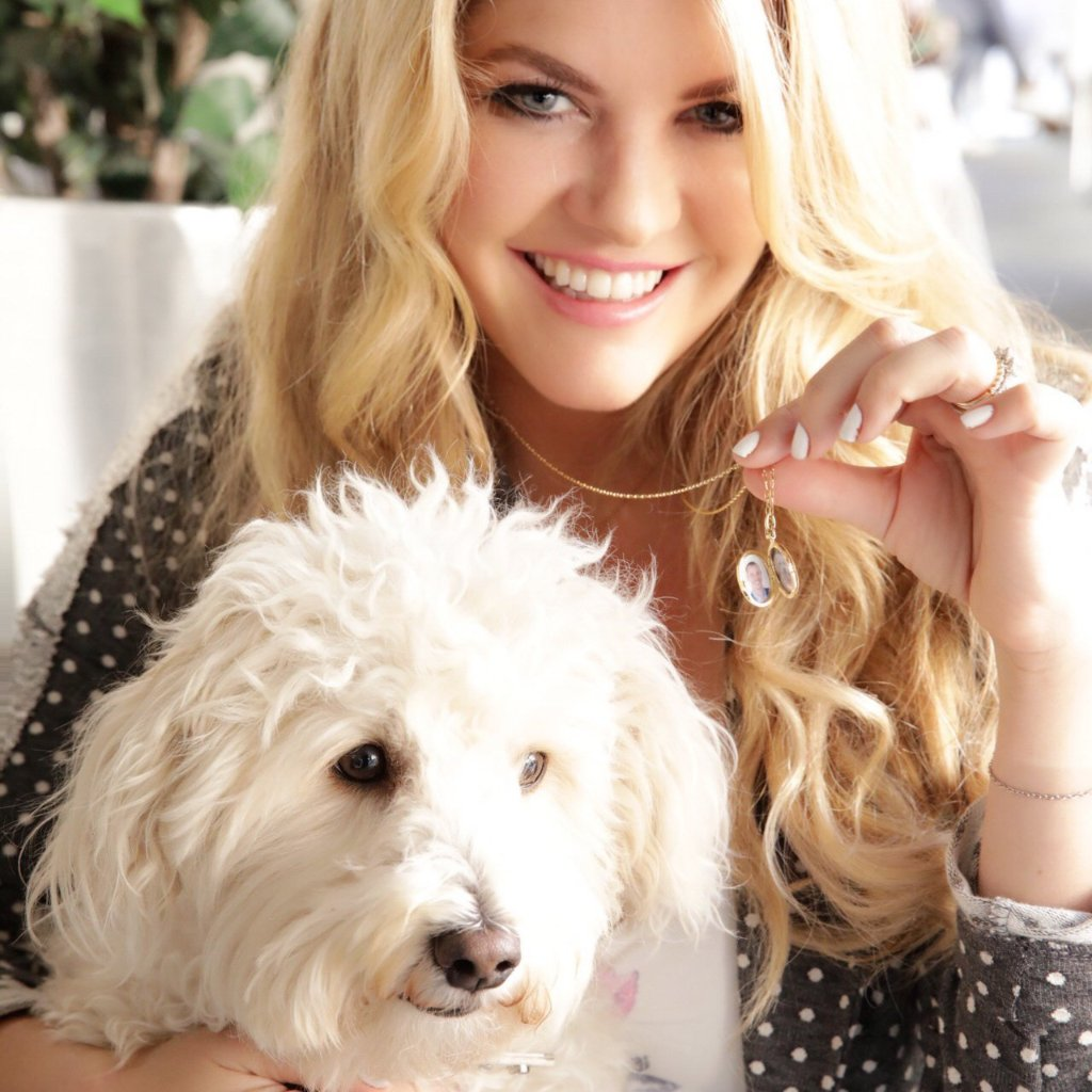 Pandora Vanderpump with Monica Rich Kosann Locket