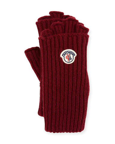 Moncler Cuanti Logo Patch Fingerless Gloves