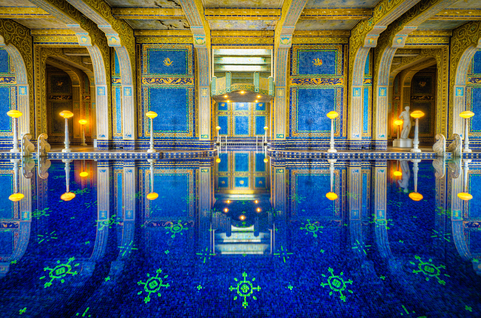 Neptune Pool at Hearst Castle photograph by William Woodward