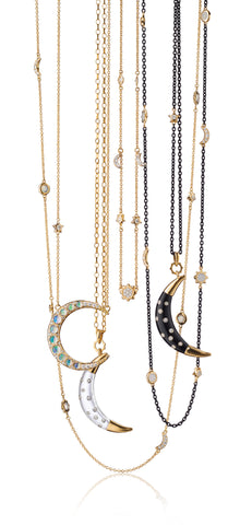 Necklaces from the Sun, Moon and Stars Collection