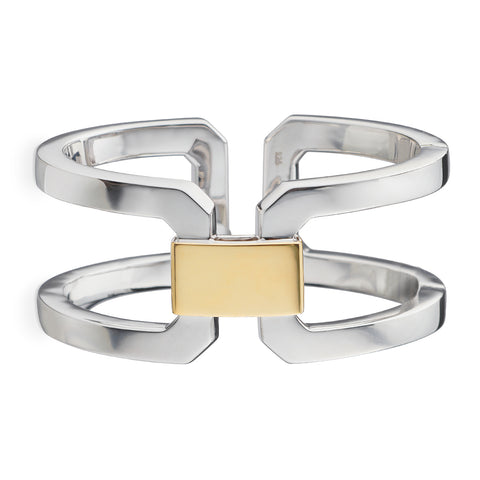 Monica Rich Kosann Two-Tone Hinged Statement Cuff