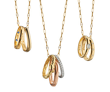 18K Gold Poesy Ring Necklaces