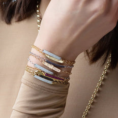 A Layered Look of our Poesy Bracelets