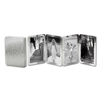 Floral Image Case in sterling silver, 4 photos
