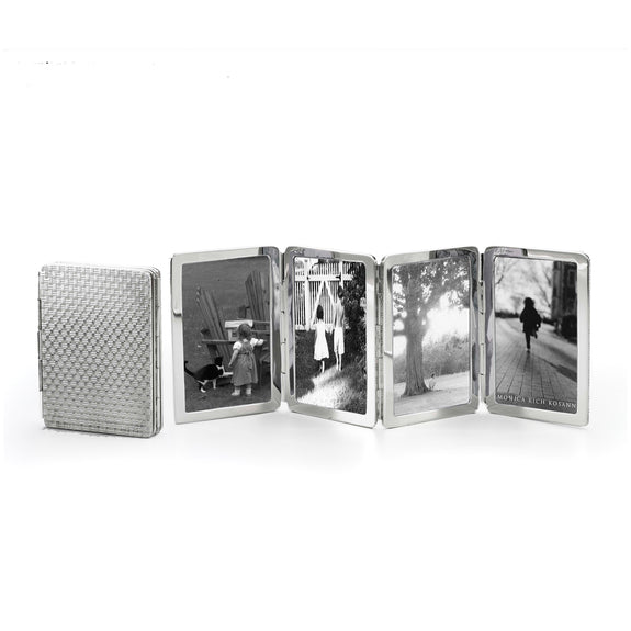 Basketweave Pattern Image Case in sterling silver, 4 photos