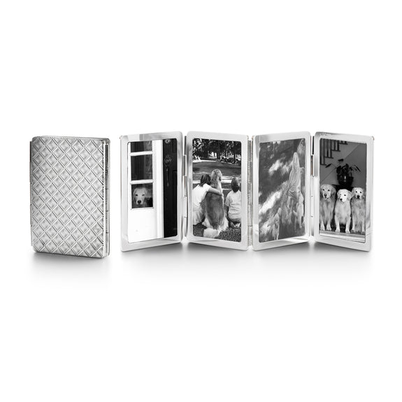 Diamond Pattern Image Case in sterling silver, 4 photos