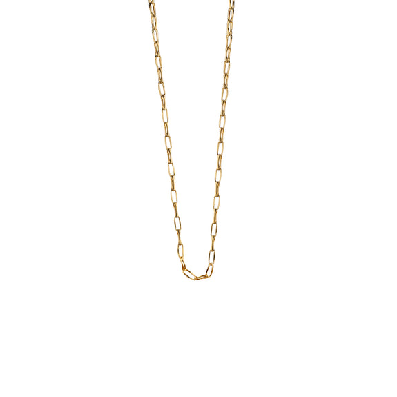 18K Yellow Gold Chain, 17""