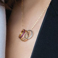 """I Love You More"" Poesy Ring Necklace"