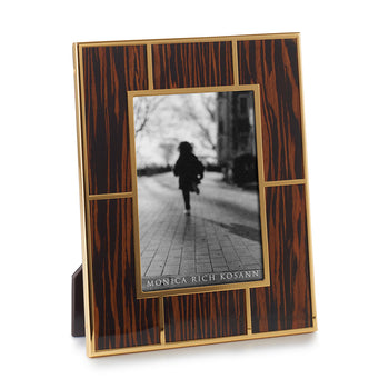 Macassar Wood & 24K Gold Plated Photo Frame